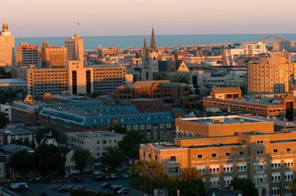 Marquette's campus, Milwaukee. Photo credit: Marquette University.